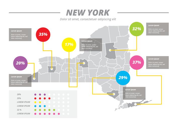 New York Kaart Vector