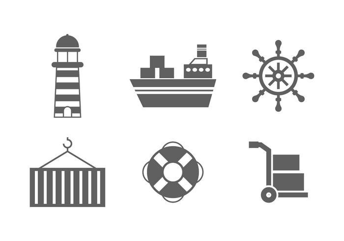 Freie hervorragende Hafen-Vektoren