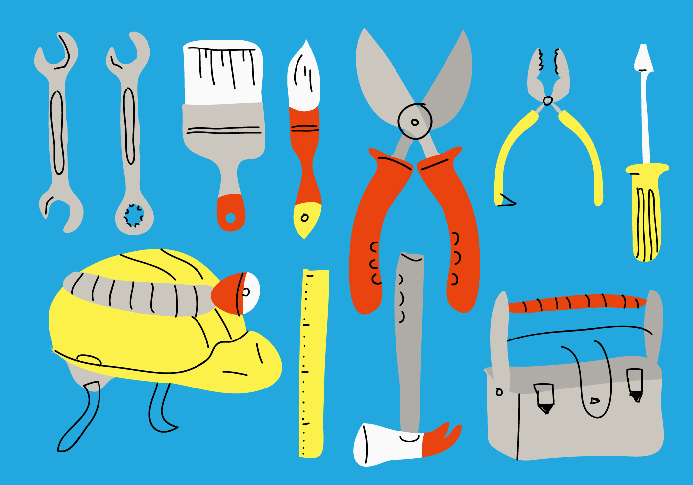 Bricolage vector illustration download free vector art - Clipart bricolage ...