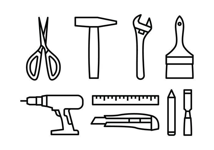 Ensemble d'icônes de l'outil Bricolage