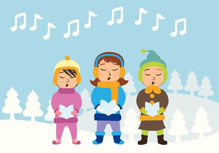 Weihnachts-Carolers Vector