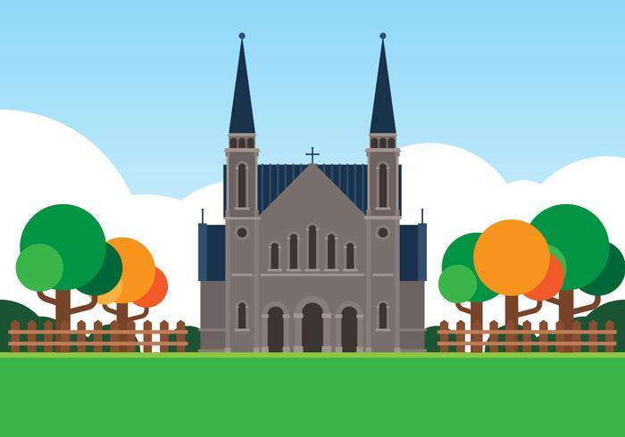 Ilustración de iglesias cristianas