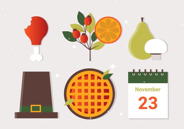 Éléments vectoriels libres de Thanksgiving