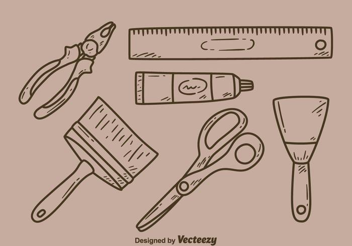 Sketch Bricolage Kit Vector