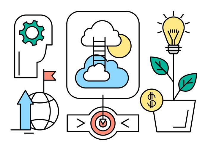 Free Startup ilustración vectorial