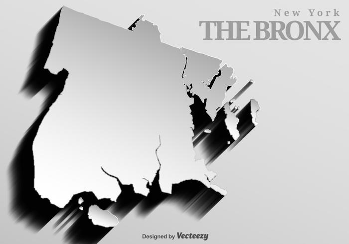 Abstract Background Of The Bronx Map