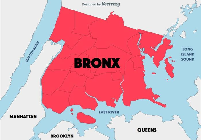 Fundo abstrato do mapa de Bronx