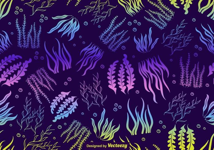 vektor havsgräs oändligt mönster