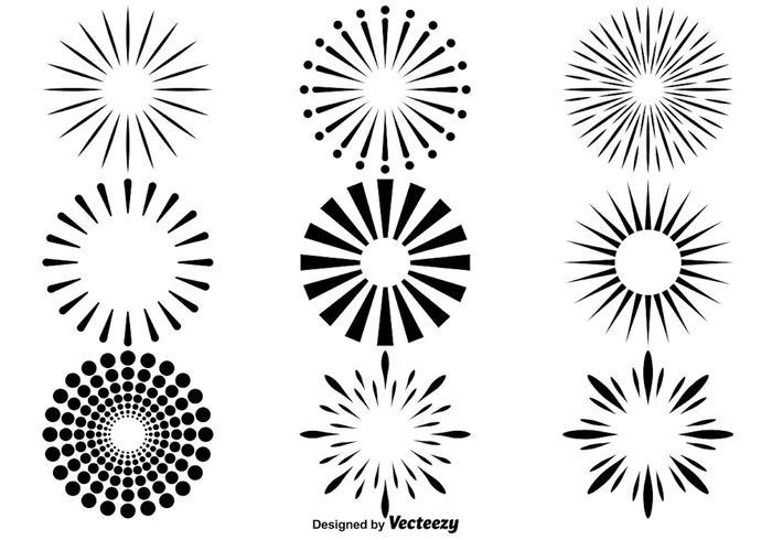 Vector Firework Icons Set