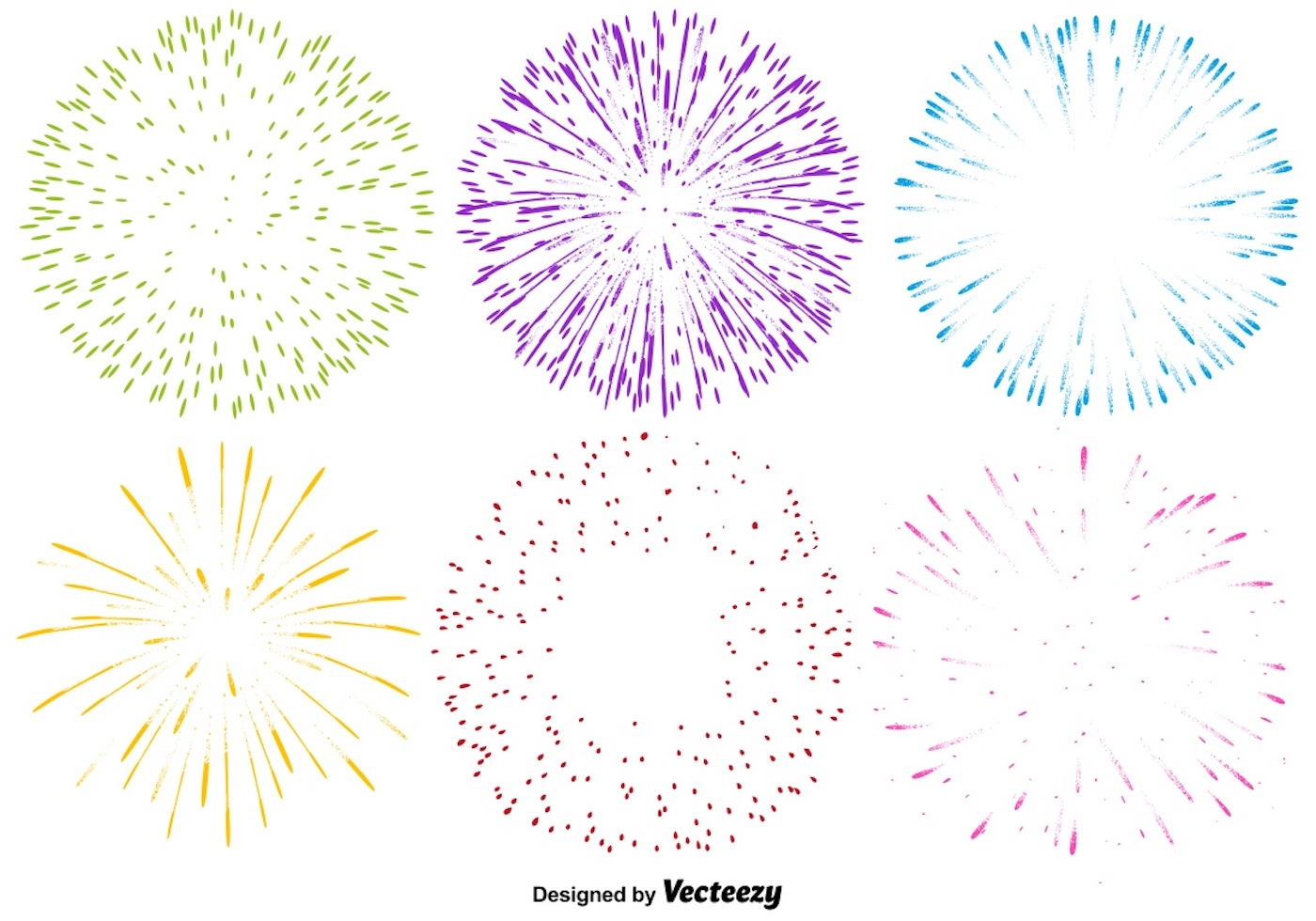 Vector Set Of Multicolored Firework Icons - Download Free ...Fireworks Icon Image
