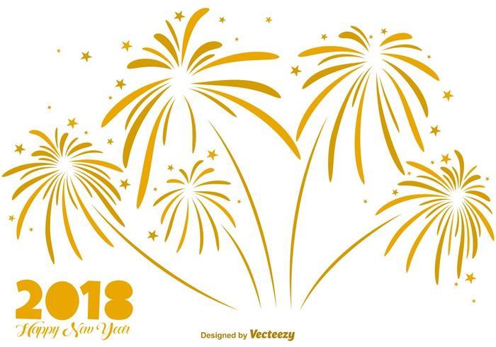 Elegante sfondo di fuochi d'artificio d'oro - elementi vettoriali