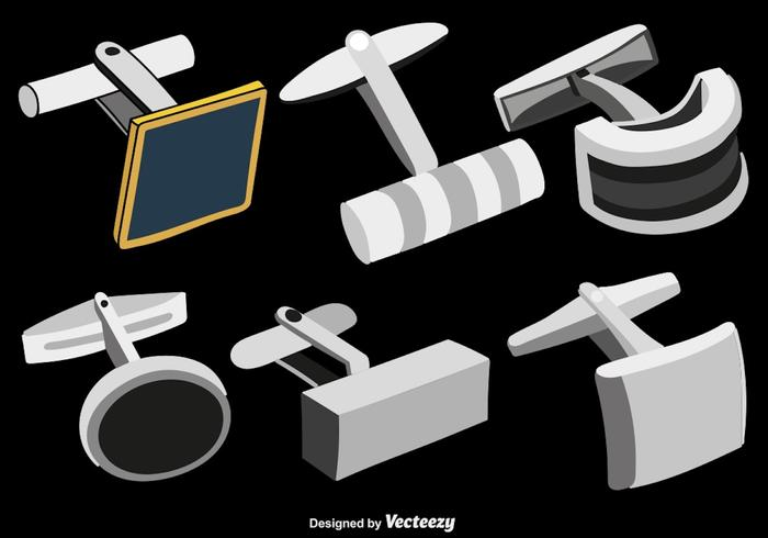 Cufflinks Vector Iconos