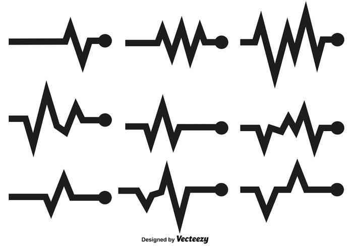 Herz-Rhythmus-Vektor-Graphen vektor