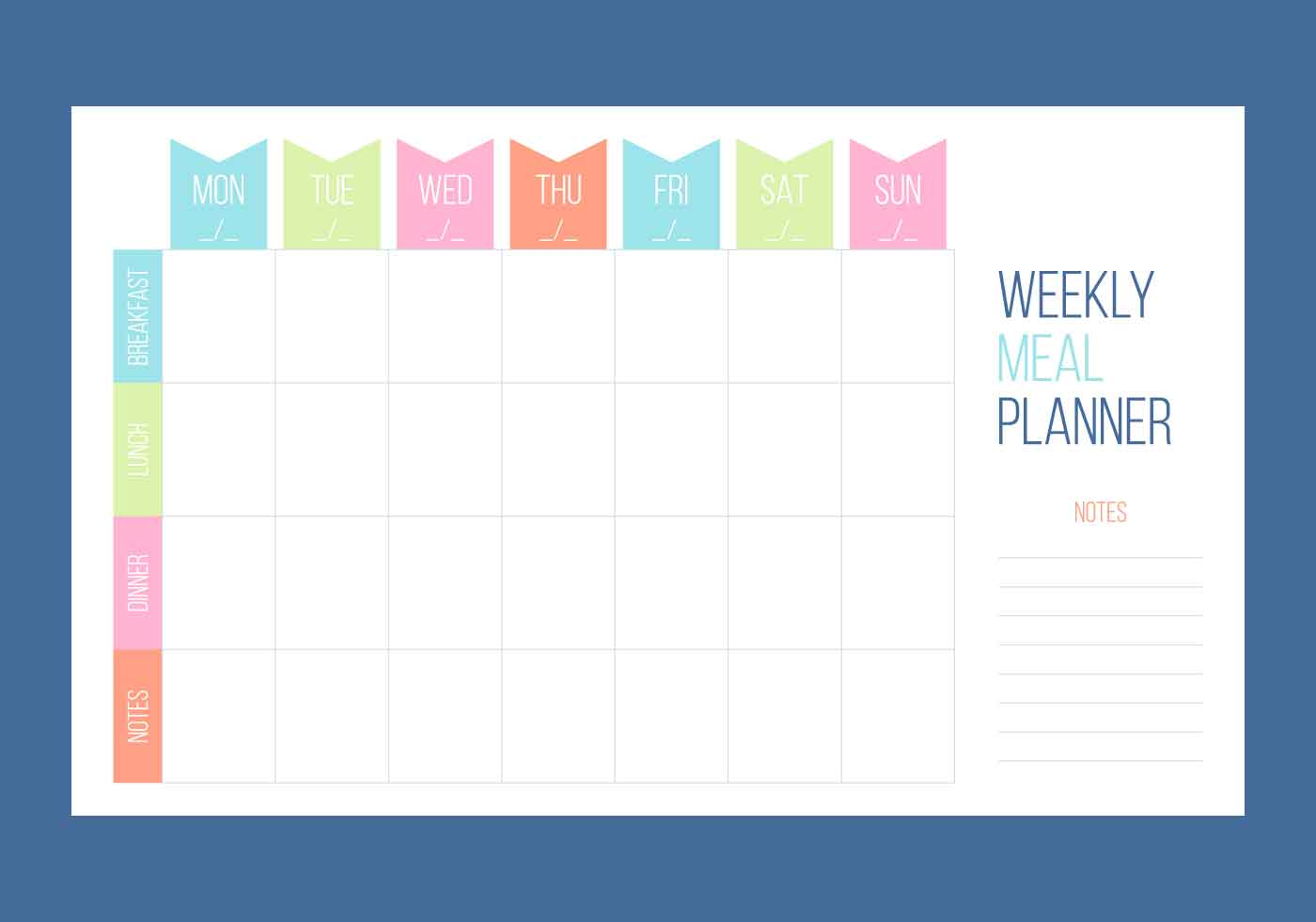 Weekly Calendar Vector : Free unique weekly calendar vectors download vector