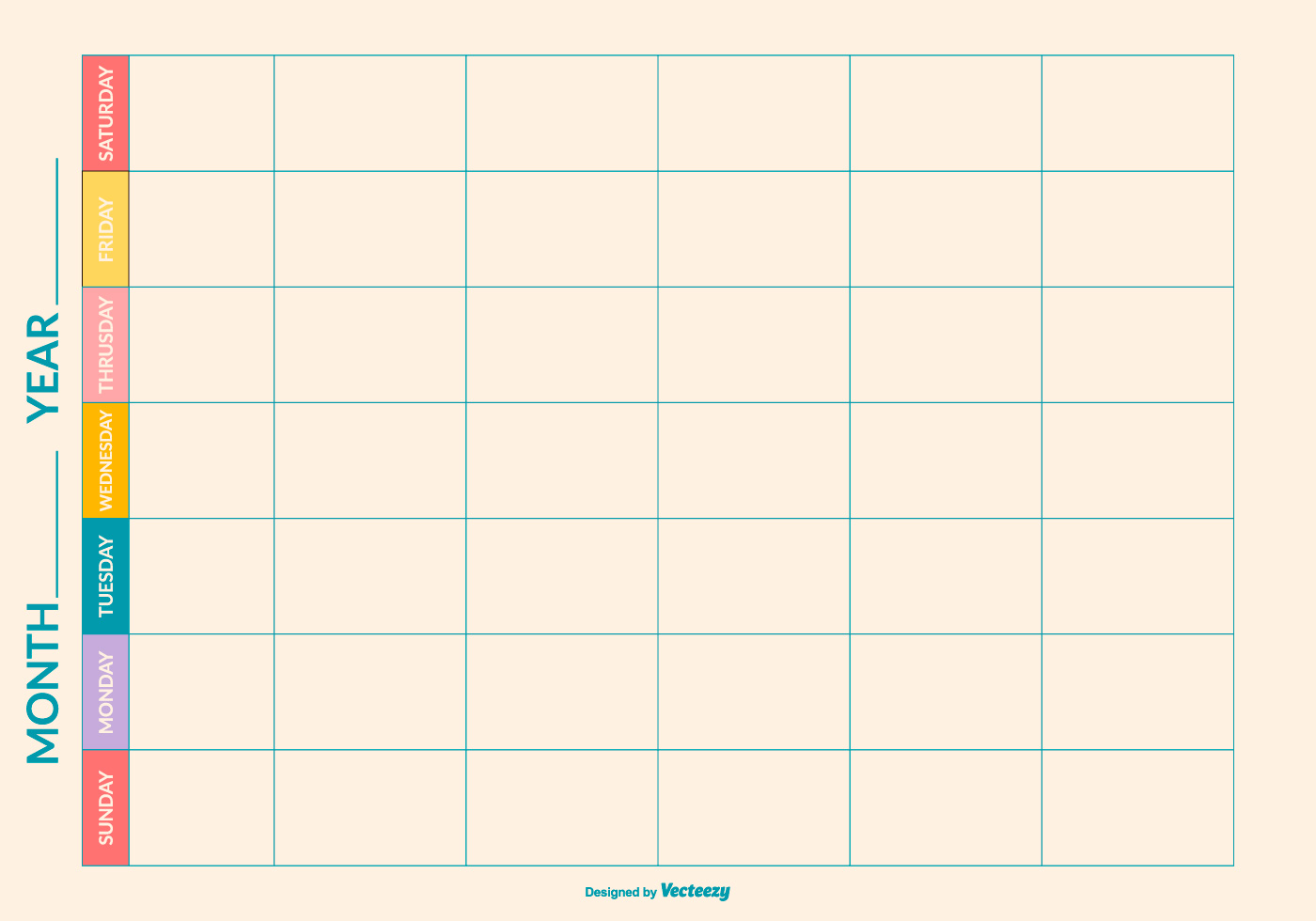 Weekly Calendar Vector : Week free vector art downloads