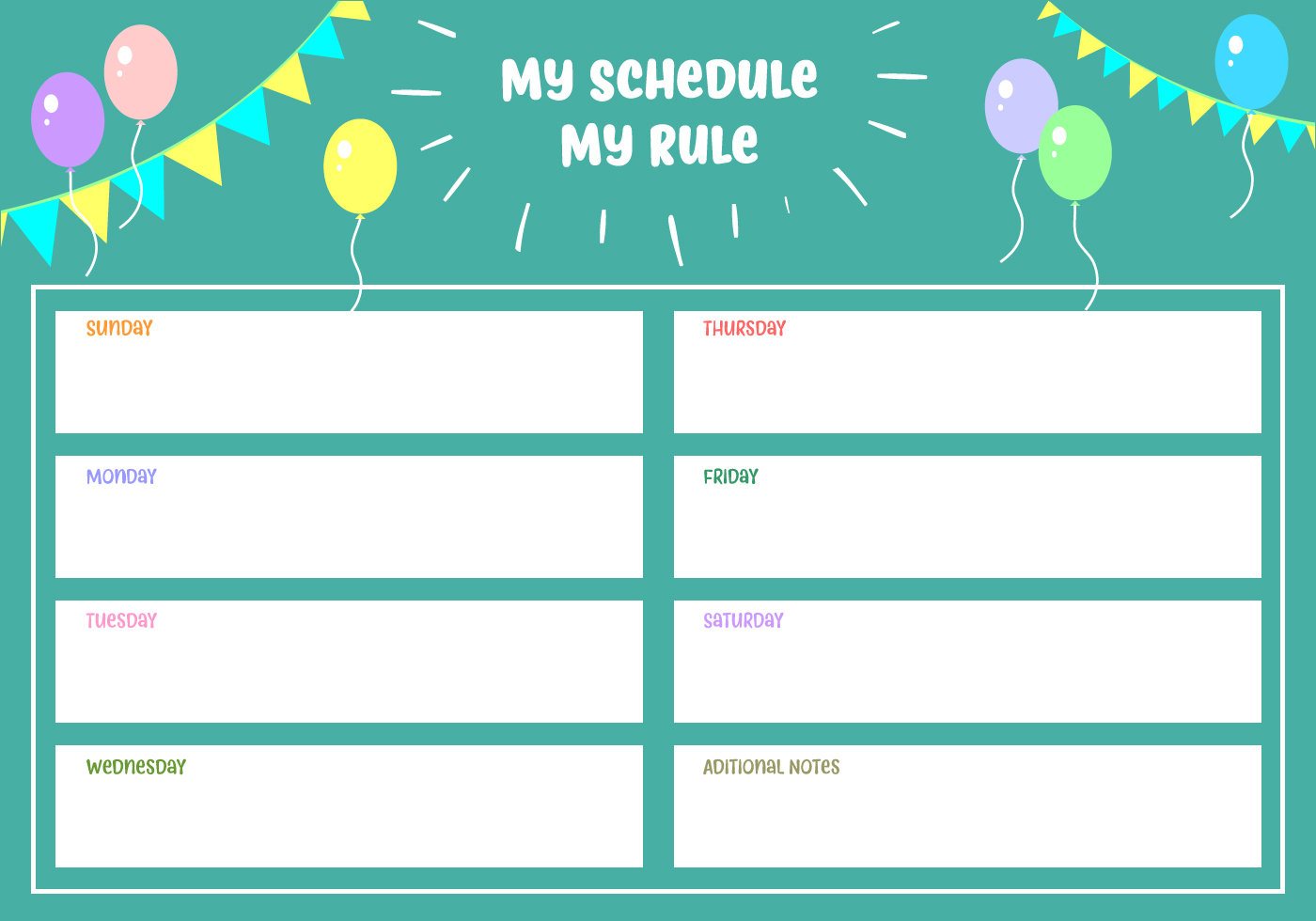my schedule my rule vector