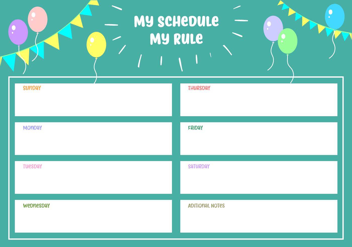 My Schedule My Rule Vector Download Free Vector Art