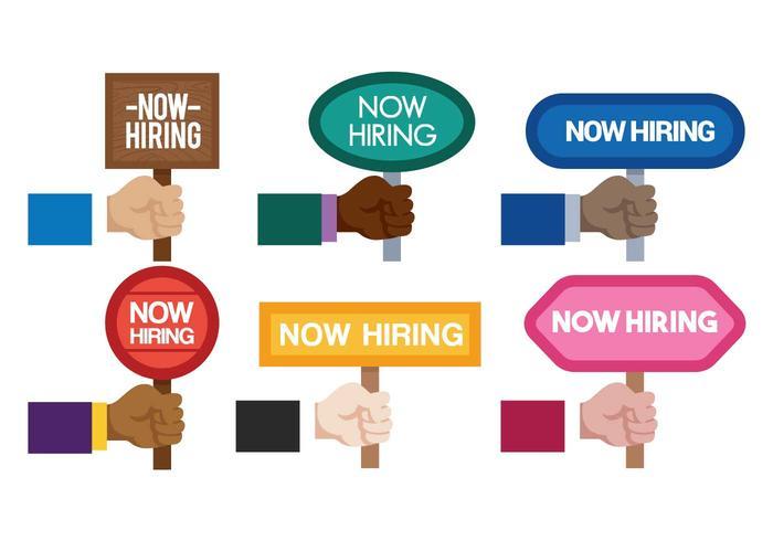 Now hiring vector set