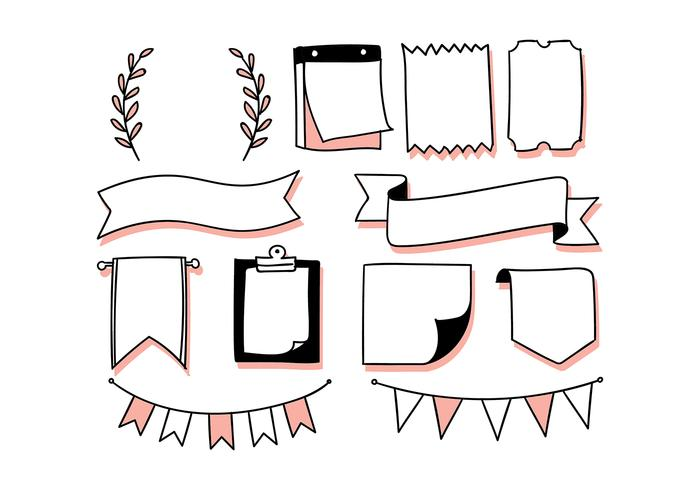 bullet journal elements free vector