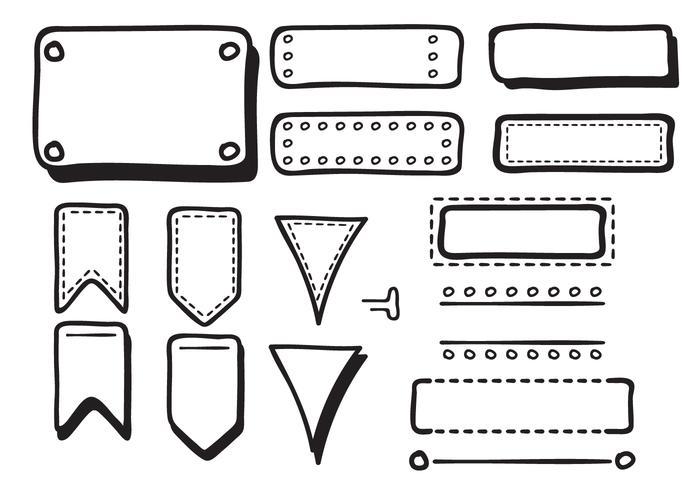 Bullet Journal vecteurs dessinés à la main