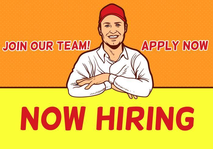 Agora contratando design de trabalhadores