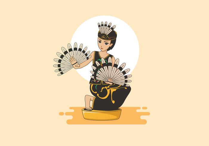 Native Dayak Girl Vector