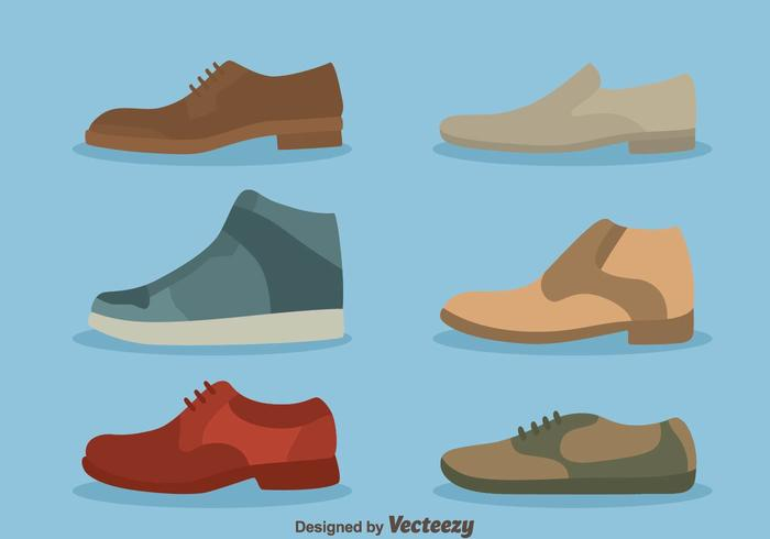 Nice Man Shoes Collection Vector