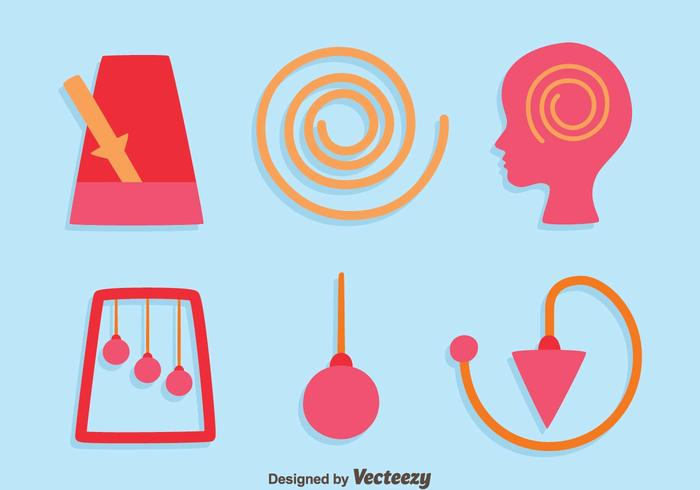 Hypnosis Element Icons Vector