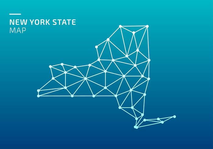 New York State Karte Lowpoly Net Free Vector
