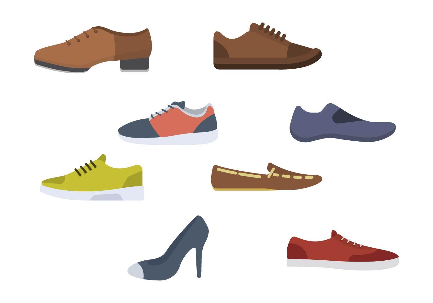 Descargue Vectores Planos Zapatos Gráficos De Gratis Y AR45Lj