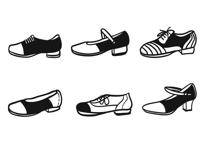 Tap shoes vector
