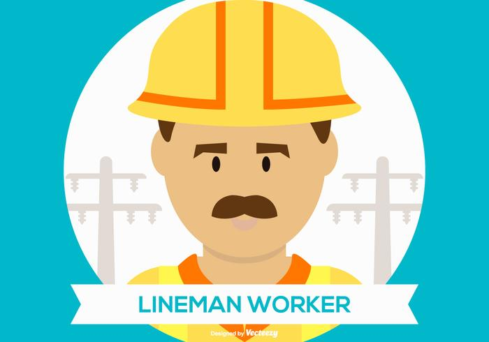 Gullig Lineman Worker Illustration