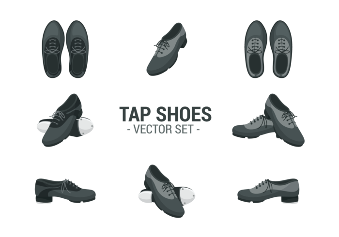 Tap Shoes Icons Vector Download Free Vectors Clipart Graphics Vector Art