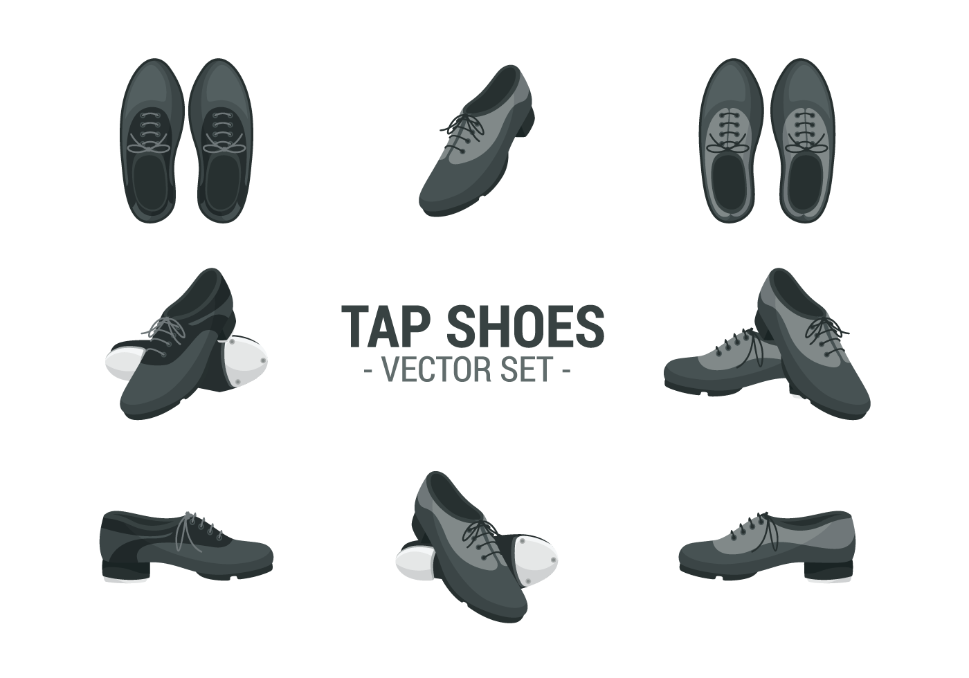 Tap Shoes Icons Vector Download
