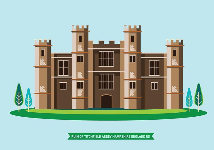 Illustration von Titchfield, Abtei, Hampshire, England Vereinigtes Königreich