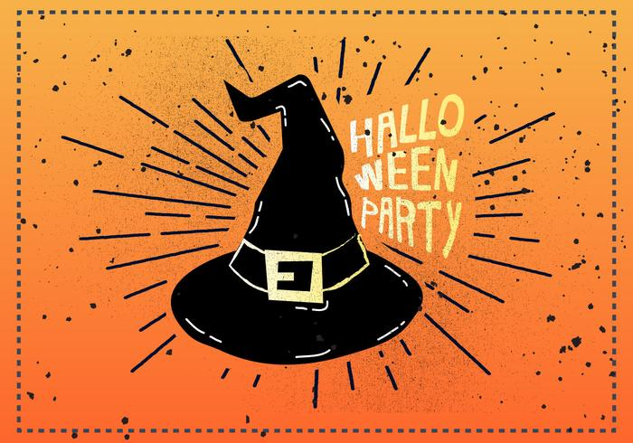 Free Vintage Halloween Vector Illustration