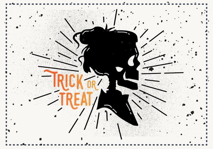 Gratis Vintage Halloween Vektor Illustration