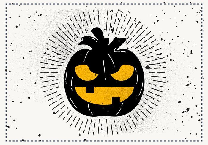 Gratis Vintage Halloween Pumpkin Vector Illustration