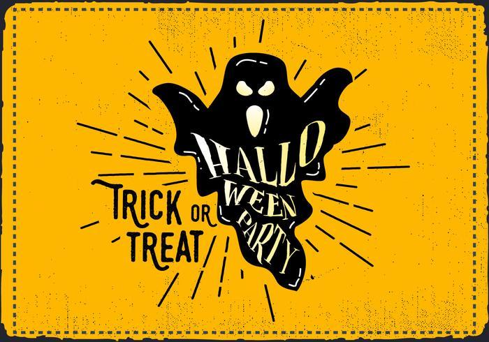 Ilustração vetorial do fantasma de Halloween do vintage grátis