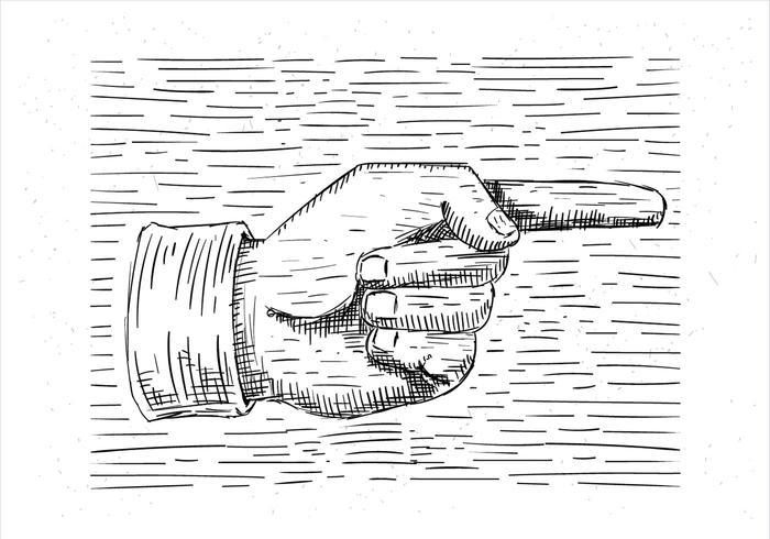 Free Hand Drawn Vector Hand Illustration