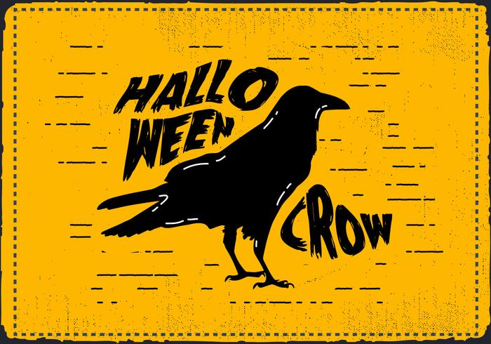 Free Scary Halloween Crow Vector