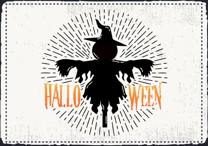 Free Scary Halloween Scarecrow Vector