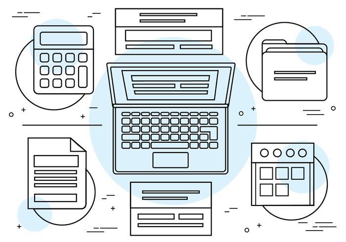 Kostenlose lineare Vektor-Icons und Elemente