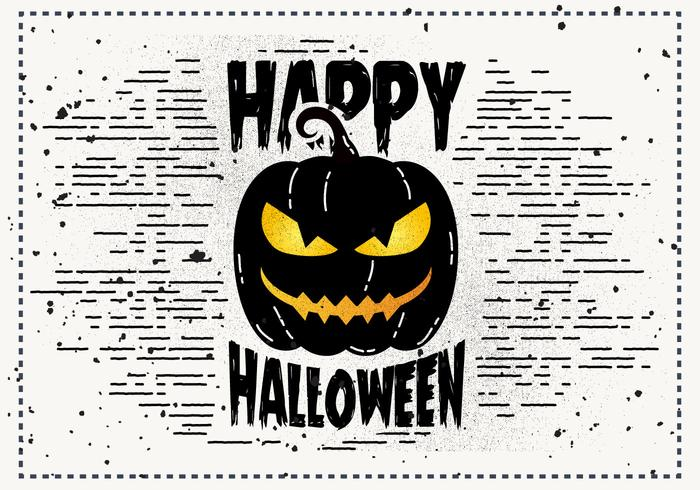 Livre Scary Halloween Pumpkin Vector