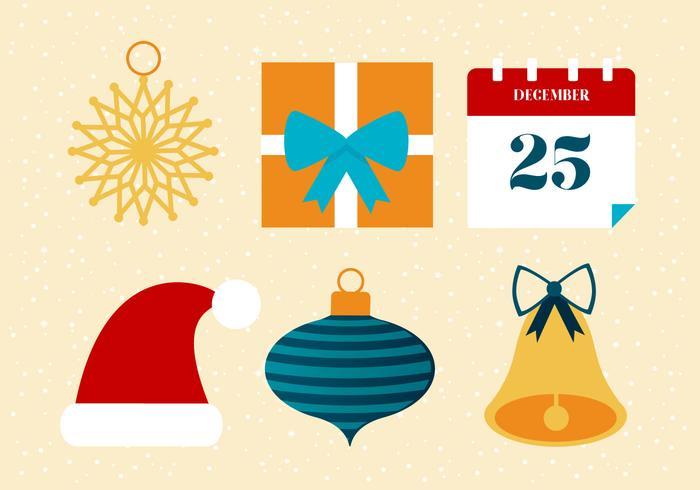 Gratis Flat Design Vector Holiday Ikoner och Elements