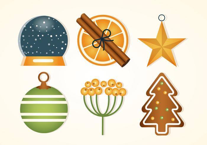 Gratis platta design vektor vinter helgdag ikoner