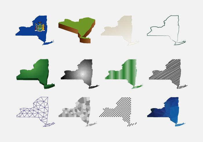 New York Karte Vektor