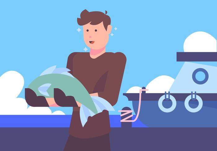 Vecteur de marin de port