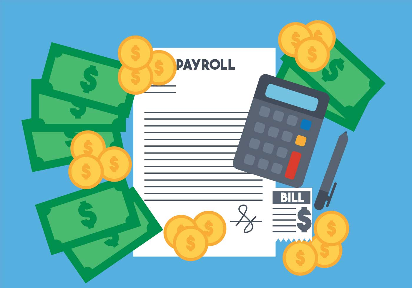 Payroll Vector Set Download Free Vector Art Stock