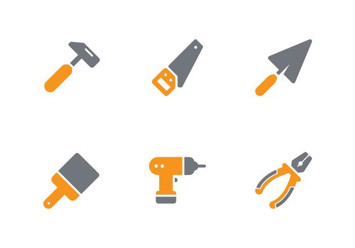 Conjunto de iconos de herramientas vector